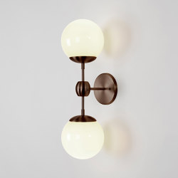 Modo Sconce - 2 Globes (Bronze/Cream) | Appliques murales | Roll & Hill