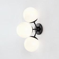 Modo Sconce - 3 Globes (Black/Cream) | Wall lights | Roll & Hill