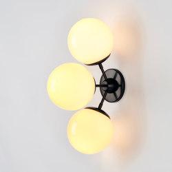 Modo Sconce - 3 Globes (Bronze/Cream) | Wall lights | Roll & Hill