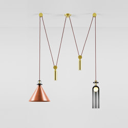 Shape Up Double Pendant (Brushed copper)   Suspended lights   Roll & Hill