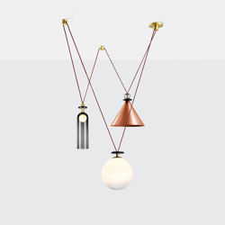 Shape Up 3-Piece Chandelier (Brushed copper) | Suspended lights | Roll & Hill