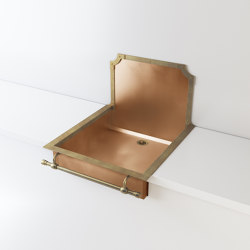 BURNISHED COPPER SEMI-RECESSED SINK