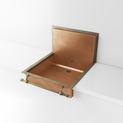 BURNISHED COPPER SEMI-RECESSED SINK LVQ059B | Kitchen sinks | Officine Gullo