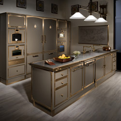 BEIGE GREY & BURNISHED BRASS KITCHEN | Cuisines équipées | Officine Gullo