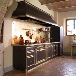 TAILOR MADE KITCHENS | CIOCCOLATO & BURNISHED BRASS KITCHEN | Fitted kitchens | Officine Gullo