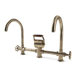 TAPS | DOUBLE MIXER WITH ARCH SPOUT | Kitchen taps | Officine Gullo