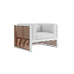 DNA Teak Lounge Chair | Armchairs | GANDIABLASCO