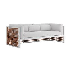 DNA Teak 3-Seat Sofa | Sofas | GANDIABLASCO