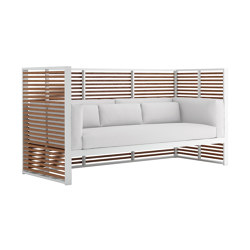 DNA Teak Normando 3-Seat Sofa | Sofas | GANDIABLASCO