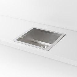 SATIN STAINLESS STEEL BUILT-IN SINK LVQ019 | Kitchen sinks | Officine Gullo