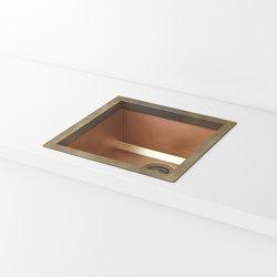 BURNISHED COPPER BUILT-IN SINK LVQ021 | Kitchen sinks | Officine Gullo
