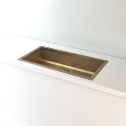BURNISHED BRASS BUILT-IN SINK LVQ022   Kitchen sinks   Officine Gullo