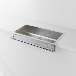SATIN STAINLESS STEEL SEMI-RECESSED SINK