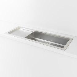 SATIN STAINLESS STEEL BUILT-IN SINK LVQ032_SX | Kitchen sinks | Officine Gullo