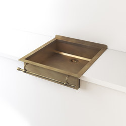 BURNISHED BRASS SEMI-RECESSED SINK