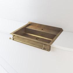 BURNISHED BRASS SEMI-RECESSED SINK LVQ048 | Kitchen sinks | Officine Gullo