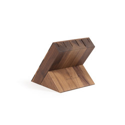 KNIFE HOLDERS | WALNUT KNIFE BLOCK | Knife blocks | Officine Gullo