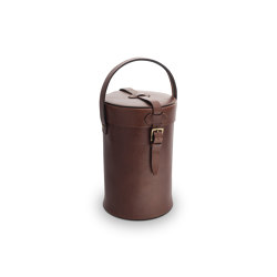 LEATHER ACCESSORIES   CYLINDRICAL CUTLERY HOLDER 13CM   Knife blocks   Officine Gullo