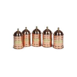 JARS | SET OF 5 COPPER JARS | Kitchen accessories | Officine Gullo