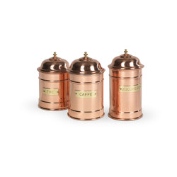 JARS | SET OF 3 COPPER JARS | Kitchen accessories | Officine Gullo