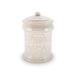 JARS | PORCELAIN JAR BEIGE 35 CM | Kitchen accessories | Officine Gullo