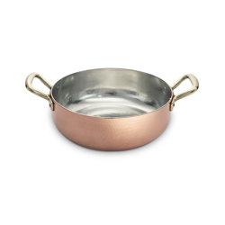 COPPER POTS | PAN WITH DOUBLE HANDLE MEDIUM | Kitchen accessories | Officine Gullo