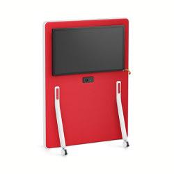 HUB board media low HUM60   Sound absorbing freestanding systems   Interstuhl