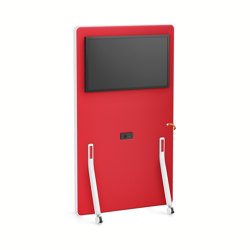HUB board media high HUM62 | Sound absorbing room divider | Interstuhl