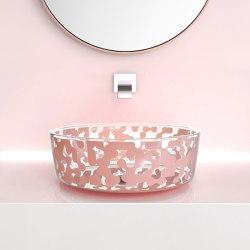 Marea Sink Powder Pink | Wash basins | Glass Design