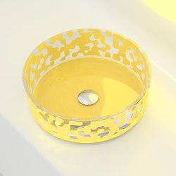 Marea Sink Saffron Yellow | Wash basins | Glass Design