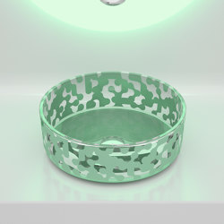 Marea Sink Sage Green | Wash basins | Glass Design