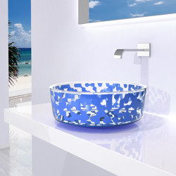 Marea Sink Sky Blue | Wash basins | Glass Design