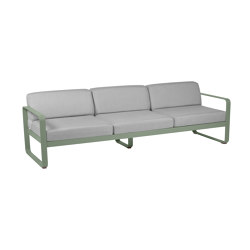 Bellevie | 3-Seater Sofa – Flannel Grey Cushions | Sofas | FERMOB