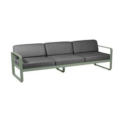 Bellevie | 3-Seater Sofa – Graphite Cushions | Sofas | FERMOB