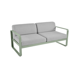 Bellevie | 2-Seater Sofa – Flannel Grey Cushions | Sofas | FERMOB