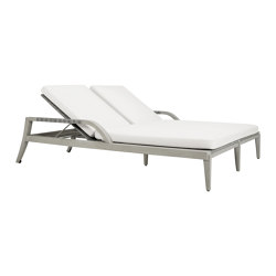 ROCK GARDEN DOUBLE CHAISE LOUNGE WITH ARMS | Lettini giardino | JANUS et Cie