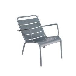 Luxembourg Acier | Steel Low Armchair | Poltrone | FERMOB