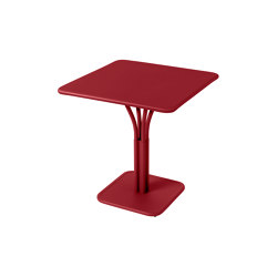 Luxembourg | Pedestal Table 71 x 71 cm With Solid Top | Bistro tables | FERMOB