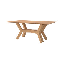 Dinner Table Tertius in Solid Bamboo | Tables de repas | Editions LS