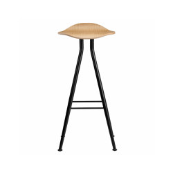 Barfly Bar Chair, Black Frame - Natural Seat, High 77 cm | Bar stools | NORR11