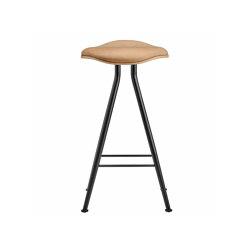 Barfly Bar Chair, Black Frame - Natural Seat / Vintage Leather Camel, High 67 cm | Bar stools | NORR11