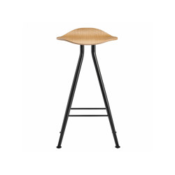 Barfly Bar Chair, Black Frame - Natural Seat, Low 67 cm | Bar stools | NORR11