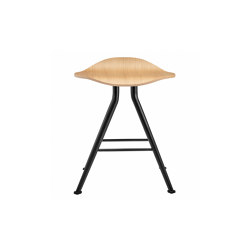 Barfly Bar Stool, Black Frame - Natural Seat | Stools | NORR11