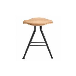 Barfly Bar Stool, Black Frame - Natural Seat / Vintage Leather Camel | Sgabelli | NORR11