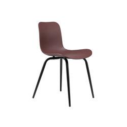 Langue Avantgarde Dining Chair, Black / Burgundy | Sillas | NORR11