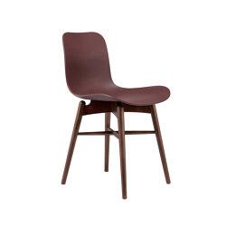 Langue Original Dining Chair, Dark Stained / Burgundy | Sillas | NORR11