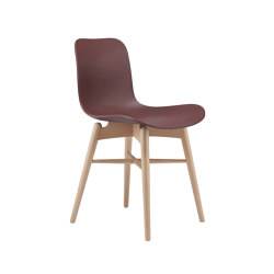Langue Original Dining Chair, Natural /  Burgundy | Sillas | NORR11