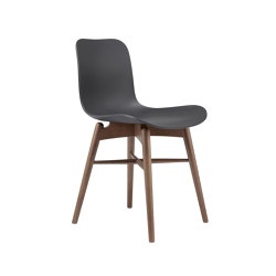 Langue Original Dining Chair, Smoked /  Anthracite Black | Sillas | NORR11