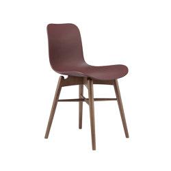 Langue Original Dining Chair, Smoked / Burgundy   Sillas   NORR11