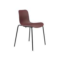 Langue Stack Dining Chair, Black / Burgundy | Sillas | NORR11